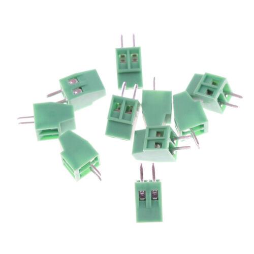 10pcs 2 Poles KF128 2.54mm PCB Universal Screw Terminal Block =P BB 3
