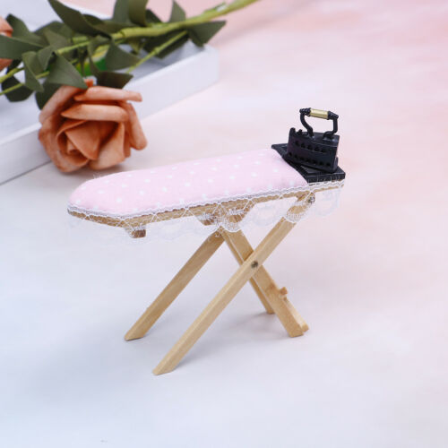 1:12 Dollhouse miniature iron with ironing board set classic furniture toys  SG 3