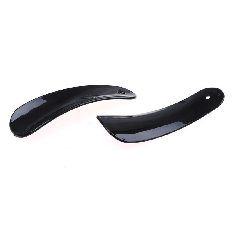 2Pcs 11cm black plastic shoehorn shoe horns spoon shoes accessoriesJG