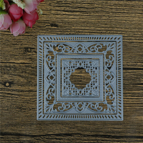 Square Hollow Lace Metal Cutting Dies For DIY Scrapbooking Album Paper Card XJ 2