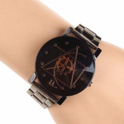 Fashion Luxury Men Women Compass Watch Stainless Steel Quartz Analog Wrist Watch 6