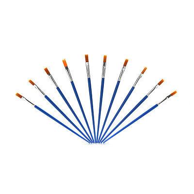 10 Stück Set Paint Brush Set Neue Nylon Blue Brush Kid Aquarell ZeichnungZP