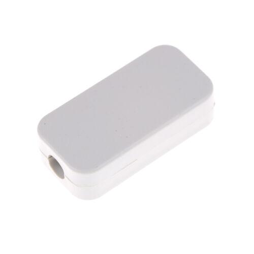 5pcs White Plastic Black Waterproof Case Project Junction Box 40*20*11mm RI 6