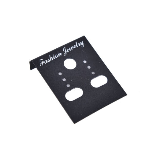 100Xclear Professional Type Plastic Earring  Studs Holder Display Hang Cards KW