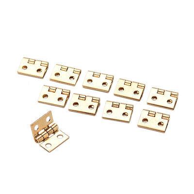 10Pcs Mini Small Metal Hinge for 1//12 House Miniature Cabinet Furniture WB