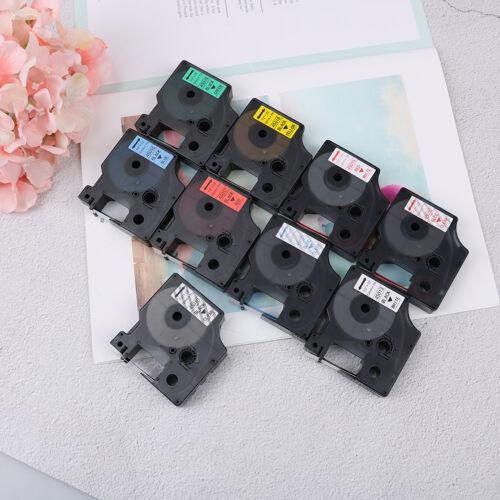 Compatible for DYMO 12mm D1 Black on Color Label Tape 1/2'' LabelManager RefilFI 2