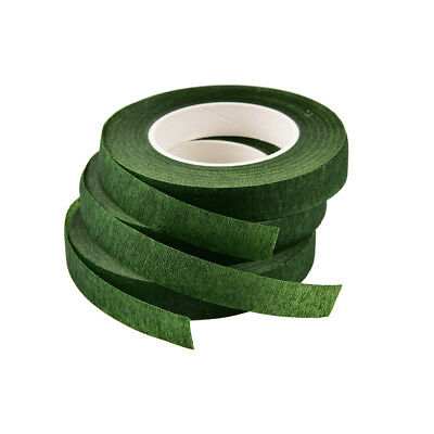 Durable Rolls Waterproof Green Florist Stem Elastic Tape Floral Flower 12mm PD 5