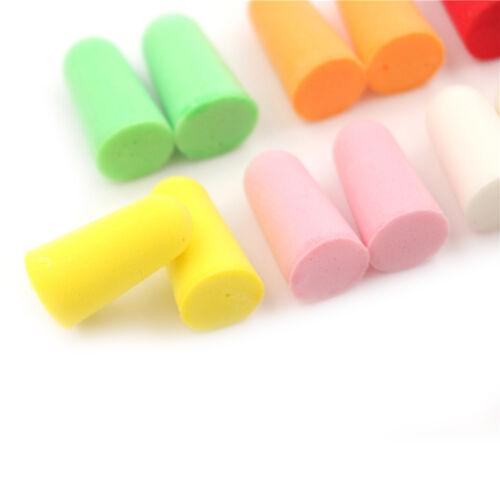 4 of 6 20pcs PU Foam Ear Plugs Anti Noise Snore Earplugs Comfortable For Study Sleep hX