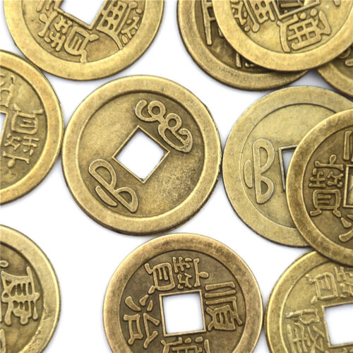 20pcs Feng Shui Coins 2.3cm Lucky Chinese Fortune Coin I Ching Money Alloy WD 6