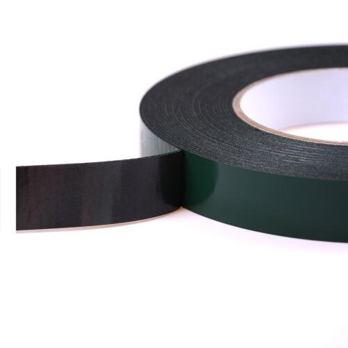 6-60mm * 10m fuerte adhesivo impermeable doble cara cinta de espuma negroH5 6