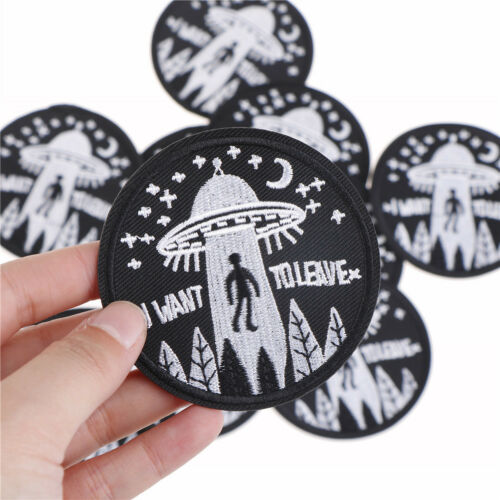 UFO Alien Abduction I Want To Leave Embroidered Airsoft Patch