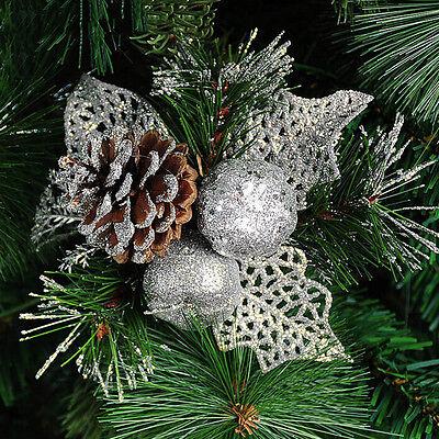 4cm 9X Christmas Gold Pine Cones Baubles Xmas Tree Decorations Ornament Decor Gb