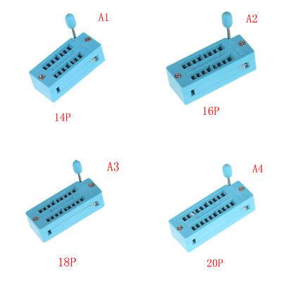 14/16/18/20/24/28/32/40 pin IC Test Universal ZIF Socket J&S 7