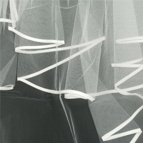 Elegant White Elegant Beauty Two Layers Short Net Tulle Bride Veil For Wedding 6