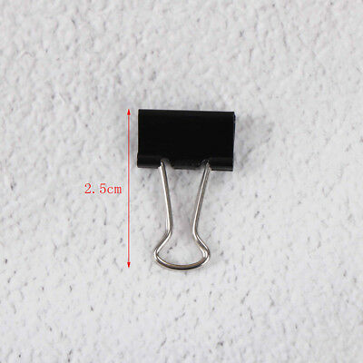 12xBlack Metal Binder File Paper Clip Photo Stationary Office Supplies GutPDH 7