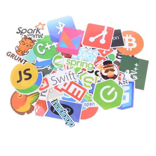 50X Internet Java JS lenguaje de programación pegatinas Doodle para portátil 6