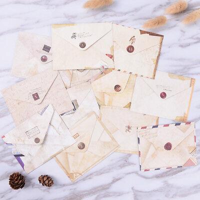 12pcs Mini Envelopes Colored Gift Card Small Metallic Designs Paper Envelope 5HU