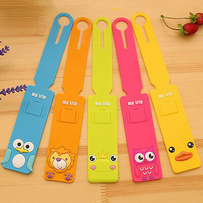 Korean Silicone Travel Luggage Tags Baggage Suitcase Bag Labels Name Address SEA 5