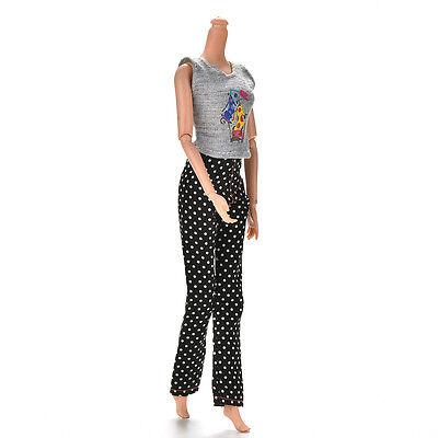 """1 Set Fashion Gray Vest Black Pants for 11"""" s Dolls ÖÖ 3"""