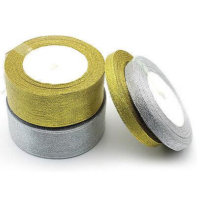 Silk Satin Ribbon 25yards Wedding  Party FestiveDecorationCraftGifts&Wrapping Jn 4