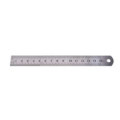 1PC Metric Rule Precision Double Sided Measuring Tool  15cm Metal Ruler Pip JB 2