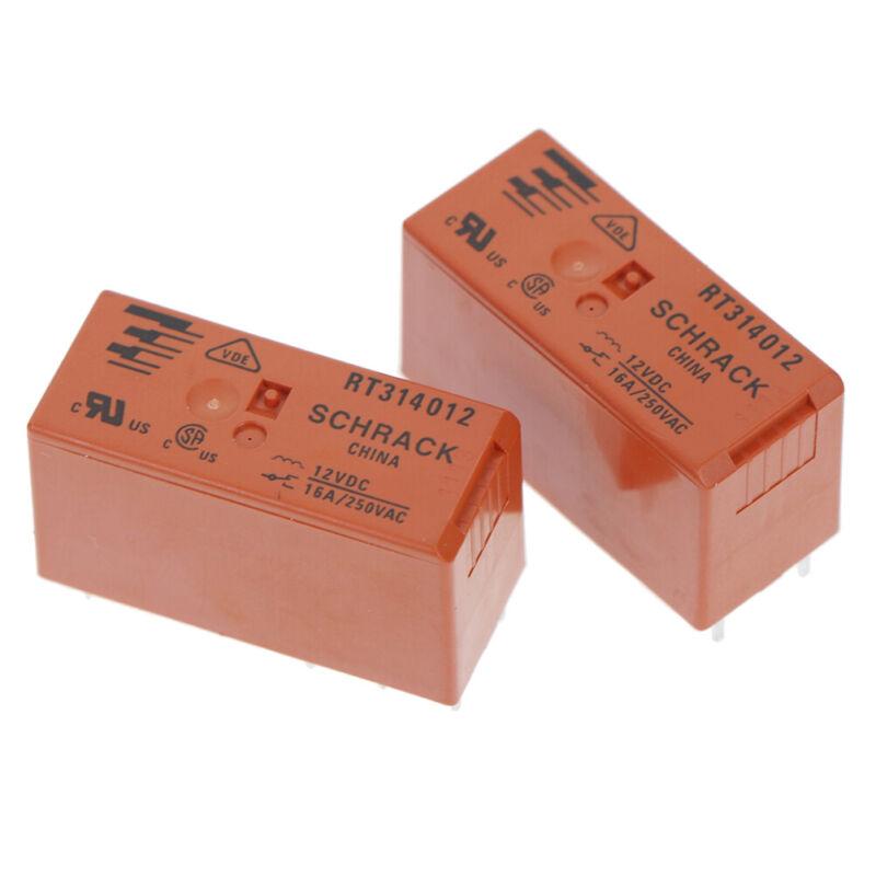 PCB RT-Leistungsprintrelais 16 A 1 x Wechsler RT314012 12 V//DC Schrack