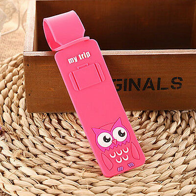 Korean Silicone Travel Luggage Tags Baggage Suitcase Bag Labels Name Address SEA 10