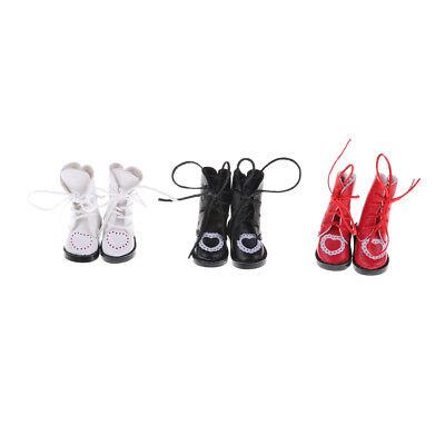 1Pair PU Leathers 1/8 Dolls Boots Shoes for BJD 1/6 Dolls Blythe Licca Jb DollsJ 2