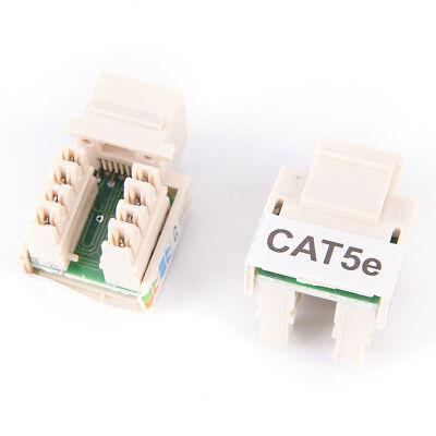10X RJ45 CAT5e Keystone Jack Ethernet Netzwerkmodul Wandstecker BXDE