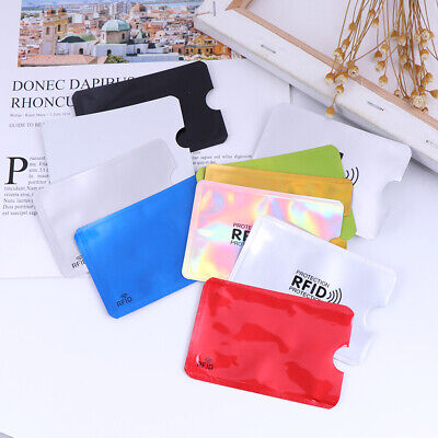 10Pcs Credit Card Protector Secure Sleeve Rfid Blocking Id Holder Foil Shield KW 9
