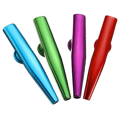 1X Kazoo Metal with Flute Diaphragm Gift for Kids Music Lovers 6 Colors wNlNTP