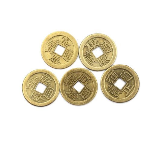 20pcs Feng Shui Coins 2.3cm Lucky Chinese Fortune Coin I Ching Money Alloy WD 4