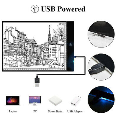 A5 led drawing tablet art stencil drawing board light box tracing table pad TE 4