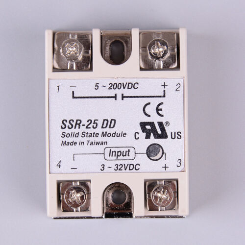 Solid state relay SSR-25DD 25A AC control DC relais 3-32VDC to 5-60VDC SSRU SP