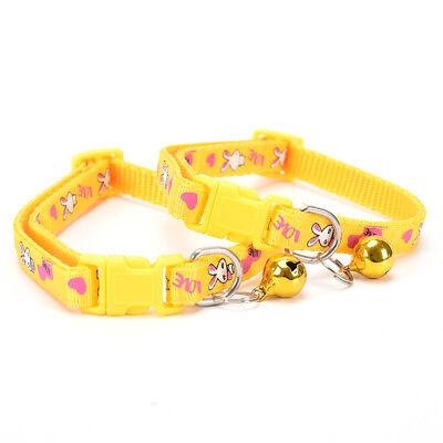 cute rabbit pattern pets cat dog puppy kitten adjustable pet collar with bell G$ 9