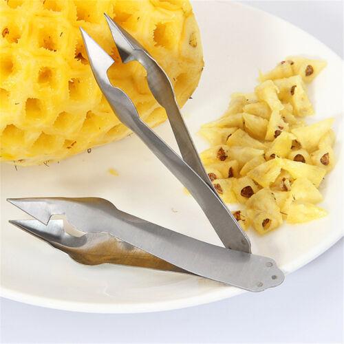 Küche Salat Werkzeug Ananas Peeler Edelstahl Corer Slicer Clip Cutter Hot HlZJP