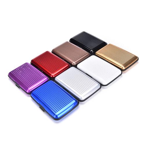 tarjetero de aluminio de impermeable funda soporte de tarjeta de monGG