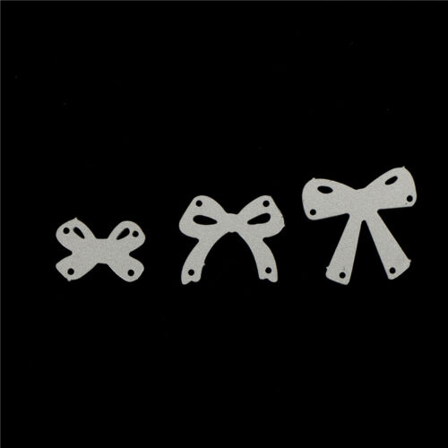 7pcs bow cutting dies stencil scrapbook album paper embossing craft DIY!# 10