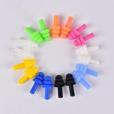 1X 5 Paar Weiche Silikon Gel Swim Ohrhörer Ohr Stöpsel Transparenter Schutz 2kr
