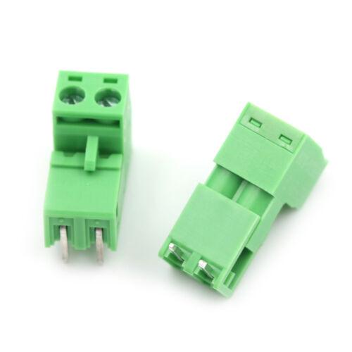 20pcs 5.08mm Pitch 2Pin Plug-in Screw PCB Terminal Block Connector HVXJ