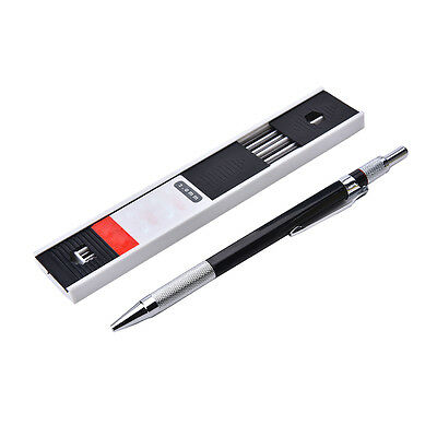2mm 2B-Lead Holder Automatic Mechanical Drawing Drafting Pencil 12 Leads Refill, 2