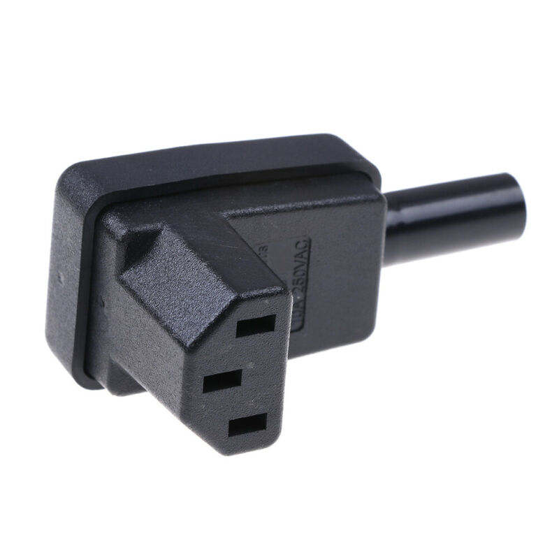 IEC-C13 down angle socket receptacle rewirable female connector plug UK 8