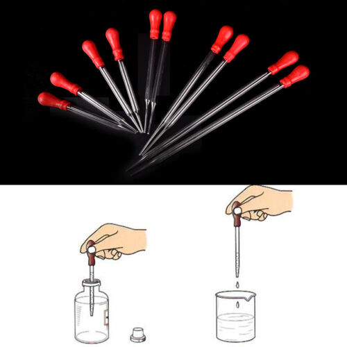 2xNew Rubber Head Glass Pipettes Dropper Lab Glassware Tool For Veterinary BSCA 2