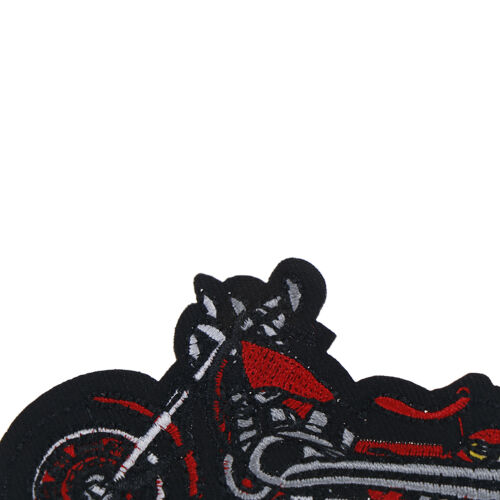 1X Cartoon Motorcycle Embroidered Iron On Patch Applique For Clothing Jacket ah 6
