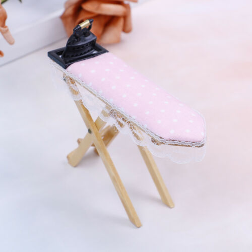 1:12 Dollhouse miniature iron with ironing board set classic furniture toys  SG 2