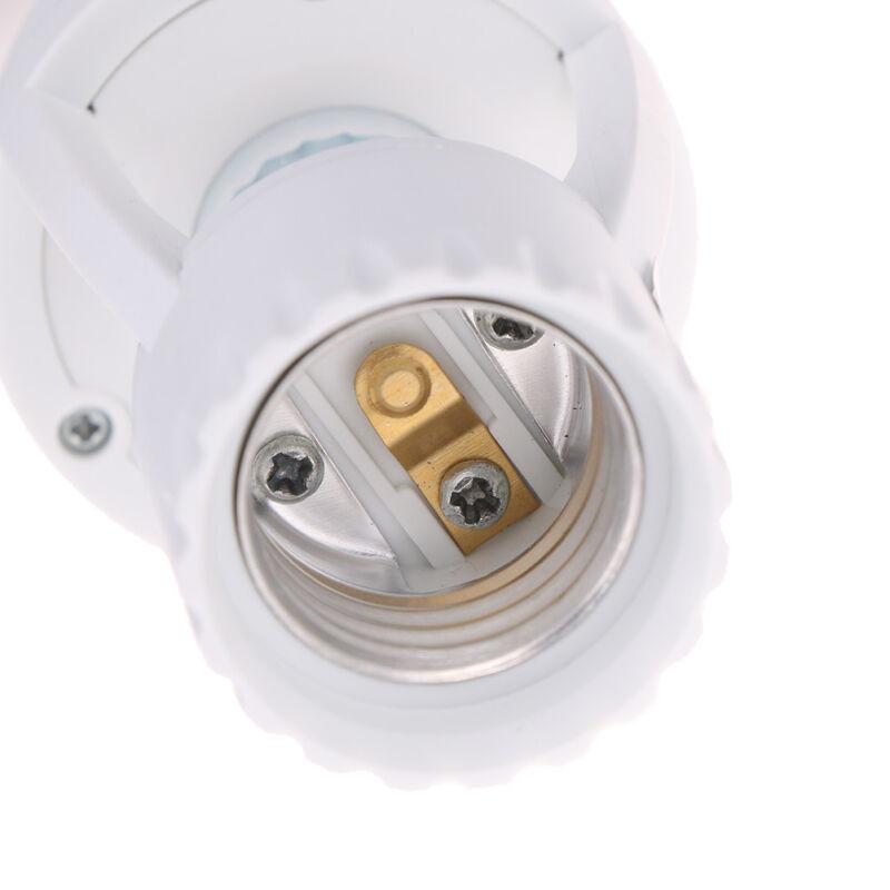 Infrared PIR Motion Sensor E27 LED Light Lamp Bulb Holder.Socket Switch BC 8