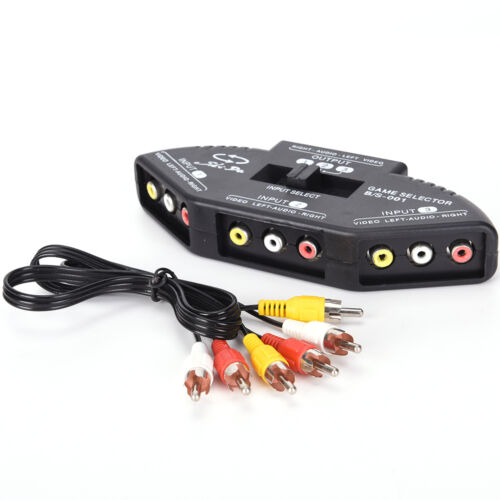 3-Way Audio Video AV RCA Switch Selector Box Composite Splitter with 3-RCA AL 2