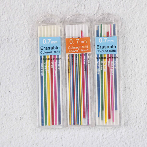 3Boxes 0.7mm Colored Mechanical Pencil Refill Leads Erasable Student StationaryM 2