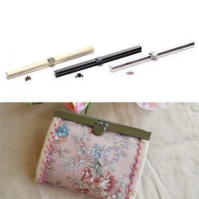 19cm Purse Wallet Frame Bar Edge Strip Clasp Metal Openable Edge Replacement P&C