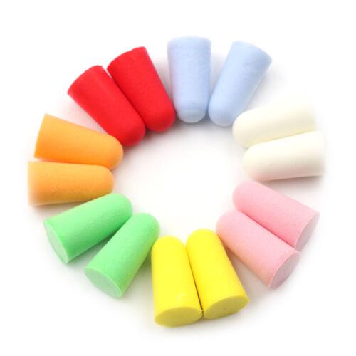 2 of 6 20pcs PU Foam Ear Plugs Anti Noise Snore Earplugs Comfortable For Study Sleep hX